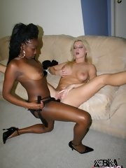 lesbian black and white sex